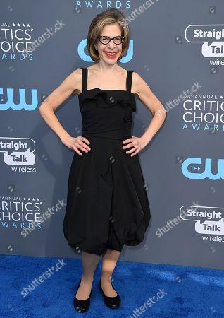 Jackie Hoffman arrives at the 23rd annual Critics' Choice Awards at the Barker Hangar, in Santa Monica, Calif