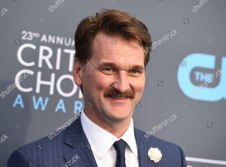 Pete Gardner arrives at the 23rd annual Critics' Choice Awards at the Barker Hangar, in Santa Monica, Calif