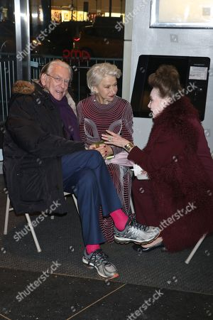 Donald Sutherland, Helen Mirren and Cindy Adams