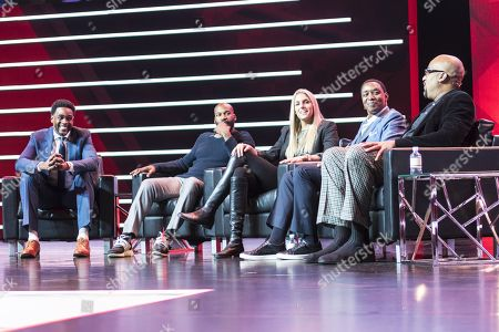 Chris Webber, Baron Davis, Elena Della Donne, Isiah Thomas and Dennis Scott