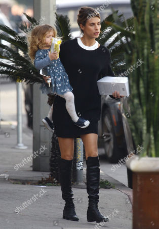 Editorial image of Elisabetta Canalis and daughter Skyler out and about, Los Angeles, USA - 06 Jan 2018