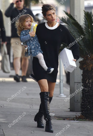 Editorial photo of Elisabetta Canalis and daughter Skyler out and about, Los Angeles, USA - 06 Jan 2018