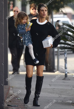 Editorial picture of Elisabetta Canalis and daughter Skyler out and about, Los Angeles, USA - 06 Jan 2018