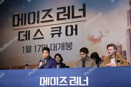 Dylan O'Brien, Thomas Sangster and Ki Hong Lee