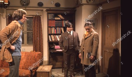 Ep 0024 Tuesday 9th January 1973 Jack is embarrassed when he finds that Marian has read his book but they row about its content - With Jack Sugden, as played by Andrew Burt ; Bart, as played by Trevor Ray; Marian Wilks, as played by Gail Harrison.