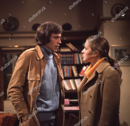 Ep 0024 Tuesday 9th January 1973 Jack is embarrassed when he finds that Marian has read his book but they row about its content - With Jack Sugden, as played by Andrew Burt ; Marian Wilks, as played by Gail Harrison