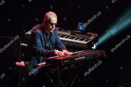 London United Kingdom - February 18: Keyboardist Roger King Performing Live On Stage With Steve Hackett At City Hall In Sheffield On May 3