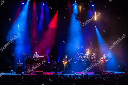 London United Kingdom - February 18: Progressive Rock Musician Steve Hackett And His Band Performing Live On Stage At City Hall In Sheffield On May 3