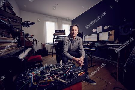 Dusseldorf Germany - March 15: Portrait Of German Musician And Composer Volker Bertelmann Better Known By His Stage Name Hauschka Photographed At His Home Studio In Dusseldorf Germany On March 15