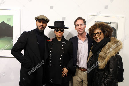 Stock Photo of Swizz Beatz, Alicia Keys, Peter Kundhadt, Jr. and LaToya Ruby Frazier