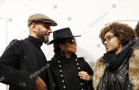 Stock Image of Swizz Beatz, Alicia Keys and LaToya Ruby Frazier