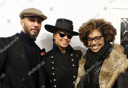 Stock Image of Swizz Beatz, Alicia Keys and LaToya Ruby Frazier