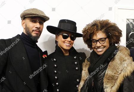 Stock Photo of Swizz Beatz, Alicia Keys and LaToya Ruby Frazier
