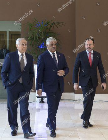 Heraldo Munoz, Miguel Vargas and Luis Videgaray