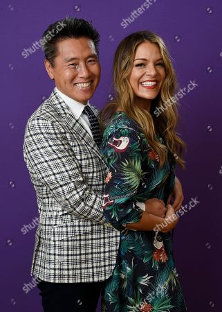"""Vern Yip, Sabrina Soto. Vern Yip, left, and Sabrina Soto, cast members in the TLC series """"Trading Spaces,"""" pose together for a portrait during the 2018 Television Critics Association Winter Press Tour at the Langham Hotel, in Pasadena, Calif"""