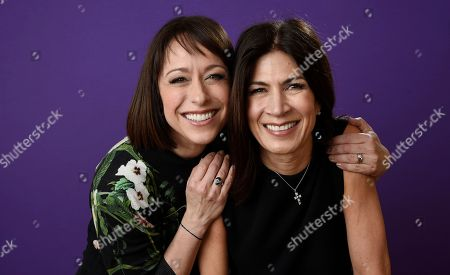 "Paige Davis, Hildi Santo-Tomas. Paige Davis, left, and Hildi Santo-Tomas, cast members in the TLC series ""Trading Spaces,"" pose together for a portrait during the 2018 Television Critics Association Winter Press Tour at the Langham Hotel, in Pasadena, Calif"