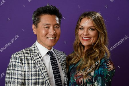 """Stock Photo of Vern Yip, Sabrina Soto. Vern Yip, left, and Sabrina Soto, cast members in the TLC series """"Trading Spaces,"""" pose together for a portrait during the 2018 Television Critics Association Winter Press Tour at the Langham Hotel, in Pasadena, Calif"""