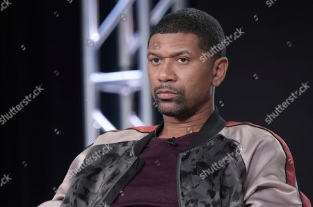 """Jalen Rose participates in the """"Get Up"""" panel during the ESPN Television Critics Association Winter Press Tour, in Pasadena,Calif"""