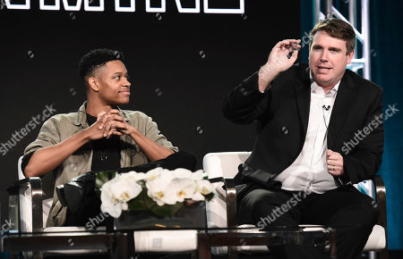 Tyrel Jackson Williams, Joel Church-Cooper. Tyrel Jackson Williams, left, and Joel Church-Cooper take part in a panel discussion during the IFC Winter TCA Press Tour at the Langham Huntington Hotel on in Pasadena, Calif