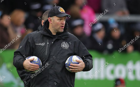 Exeter Chiefs Assistant Coach, Robin Hunter during the European Rugby Champions Cup match between Exeter Chiefs and Montpellier at Sandy Park on January 13th 2018, Exeter, Devon (