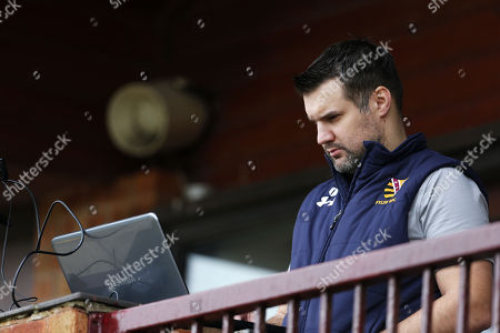 Stock Picture of Fylde 1st Team Manager, David Wiseman prepares his team before the National Division 1 match between Fylde v Plymouth Albion at the Woodlands Memorial Ground, on January 13 2018, Lytham St. Annes, Lancashire, UK.