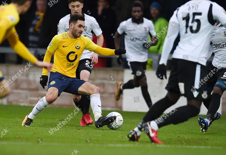 Jake Gosling of Torquay United, during the Vanarama National League match between Torquay United and Eastleigh at Plainmoor, Torquay, Devon on January 13