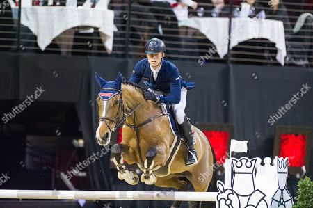 Stock Picture of Max KÜHNER (AUT) riding Electric Touch Prize of Thermoplan