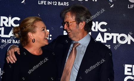 Lili Fini Zanuck and Eric Clapton