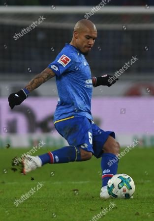 Mainz's Nigel de Jong during the German Bundesliga soccer match between Hannover 96 and Mainz 05 in Hannover, Germany, 13 January 2018.