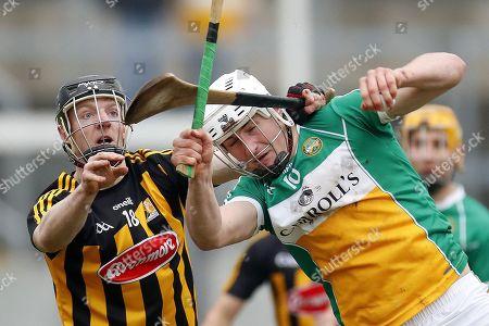 Offaly vs Kilkenny. Offaly's Oisin Kelly and Enda Morrissey of Kilkenny