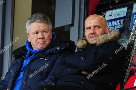 Steve Perryman, Director of Football of Exeter City and Paul Tisdale Manager of Exeter City during the Sky Bet League 2 Match between Exeter City and Coventry City at St James Park, Exeter, Devon on January 13.