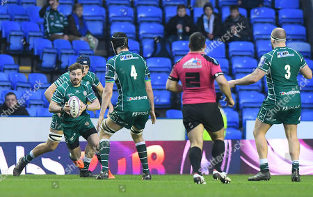 Stock Picture of Ben Ransom of London Irish in action during the European Rugby Challenge Cup Pool 4 match between London Irish and Krasny Yar at Madejski Stadium on January 13th 2018 in Reading, Berkshire, England. (Photo by Gareth Davies/PPAUK)