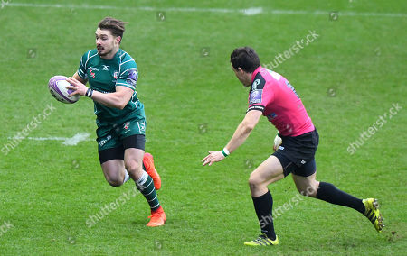 Ben Ransom of London Irish in action during the European Rugby Challenge Cup Pool 4 match between London Irish and Krasny Yar at Madejski Stadium on January 13th 2018 in Reading, Berkshire, England. (Photo by Gareth Davies/PPAUK)