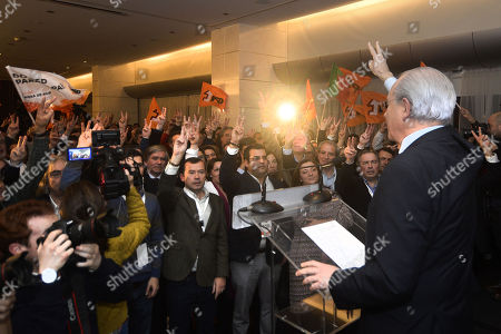 Social Democratic Party (PSD) candidate, Rui Rio, makes his victory speech after winning the direct elections for the leadership of the party, Porto, Portugal,13 January 2018. More than 70,000 PSD militants voted to choose the next social-democratic president and successor of Pedro Passos Coelho in the direct elections between Pedro Santana Lopes and Rui Rio.