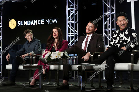 Zach Gilford, Shoshannah Stern, Josh Fieldman, Andrew Ahn. Zach Gilford, from left, Shoshannah Stern, Josh Fieldman and Andrew Ahn participate in the 'This Close' panel during the SundanceTV Television Critics Association Winter Press Tour, in Pasadena, Calif