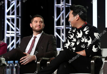 Josh Fieldman, Andrew Ahn. Josh Fieldman, left, and Andrew Ahn participate in the 'This Close' panel during the SundanceTV Television Critics Association Winter Press Tour, in Pasadena, Calif