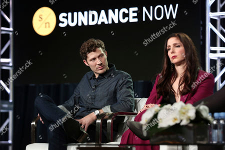 Zach Gilford, Shoshannah Stern. Zach Gilford, left, and Shoshannah Stern participate in the 'This Close' panel during the SundanceTV Television Critics Association Winter Press Tour, in Pasadena, Calif