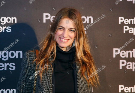 French actress Joana Preiss poses for photographers on arrival at the French premiere of the film 'The Post' in Paris, France, . The title of the French version is 'The Pentagon Papers