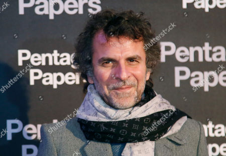 Stock Image of French director Eric Lartigau poses for photographers on arrival at the French premiere of the film 'The Post' in Paris, France, . The title of the French version is 'The Pentagon Papers