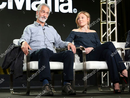 David Strathairn, Juliet Rylance. David Strathairn, left, and Juliet Rylance participate in the 'McMAfia' panel during the AMC Television Critics Association Winter Press Tour, in Pasadena, Calif