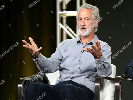 David Strathairn participates in the 'McMAfia' panel during the AMC Television Critics Association Winter Press Tour, in Pasadena, Calif