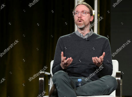 David Kajganich participates in the 'The Terror' panel during the AMC Television Critics Association Winter Press Tour, in Pasadena, Calif