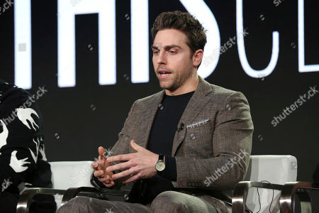Colt Prattes participates in the 'This Close' panel during the SundanceTV Television Critics Association Winter Press Tour, in Pasadena, Calif