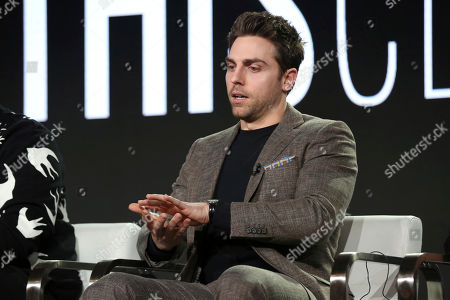 Stock Picture of Colt Prattes participates in the 'This Close' panel during the SundanceTV Television Critics Association Winter Press Tour, in Pasadena, Calif
