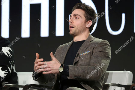 Stock Photo of Colt Prattes participates in the 'This Close' panel during the SundanceTV Television Critics Association Winter Press Tour, in Pasadena, Calif