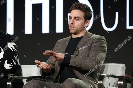 Stock Image of Colt Prattes participates in the 'This Close' panel during the SundanceTV Television Critics Association Winter Press Tour, in Pasadena, Calif