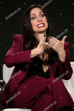 Shoshannah Stern participates in the 'This Close' panel during the SundanceTV Television Critics Association Winter Press Tour, in Pasadena, Calif
