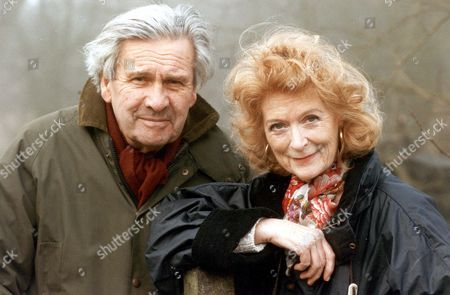 Editorial photo of Ludovic Kennedy Writer And Broadcaster & Moira Shearer (died January 2006) On A Walk In 1992.