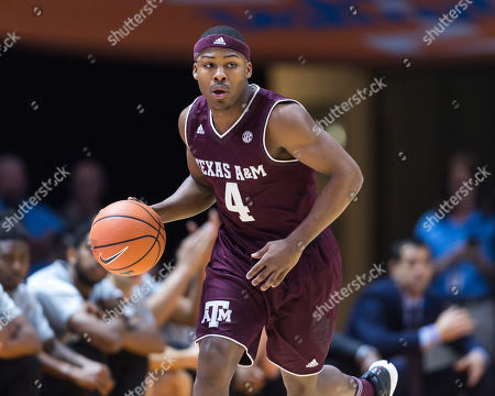 JJ Caldwell #4 of the Texas A&M Aggies brings the ball up court during the NCAA basketball game between the University of Tennessee Volunteers and the Texas A&M University Aggies at Thompson Boling Arena in Knoxville TN Tim Gangloff/CSM
