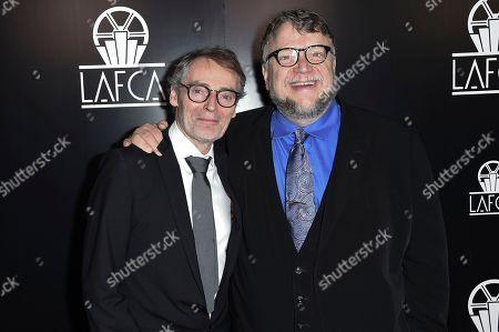 Dan Laustsen, Guillermo del Toro. Dan Laustsen, left, and Guillermo del Toro attend the 43rd Annual Los Angeles Film Critics Association Awards, in Los Angeles